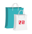 paper shopping bags cartoon vector image