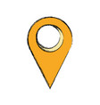 pointer map location symbol vector image