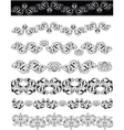 Floral ornaments lineart vector image