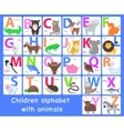 Children Alphabet with Animals Letters Set vector image vector image