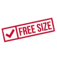 Free Size rubber stamp vector image