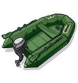 rubber motor boat vector image vector image