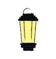 Vintage street lantern lamp light design vector image