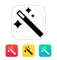 Magician wand icon vector image