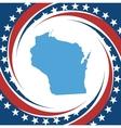 Vintage label Wisconsin vector image vector image