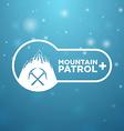 logotype mountain patrol vector image vector image