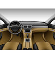 Light beige leather car interior vector image vector image
