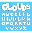 Clouds alphabet vector image