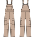 Work overalls Front and back vector image vector image