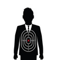 business man shooting target vector image