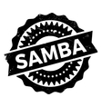 Famous dance style samba stamp vector image