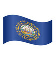 flag of new hampshire waving on white background vector image