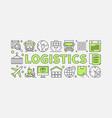 logistics concept minimal vector image