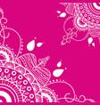 mandala on pink background vector image