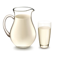 milk jug and glass of milk vector image