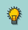 regular lightbulb idea concept image vector image