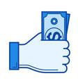 salary line icon vector image