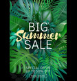 sale vertical banner poster with palm leaves vector image