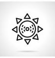 Sun black line design icon vector image