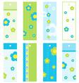 Spring Floral bookmarks vector image