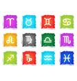 zodiac icons set vector image