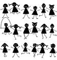 doodle children set vector image vector image
