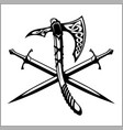 viking warrior emblem vector image