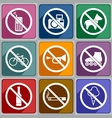 Icons prohibition vector image vector image