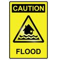 Flood hazard Sign vector image vector image