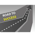 Road to success background vector image