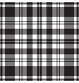 seamless tartan - black and white vector image