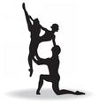 Ballet dancers silhouette vector image