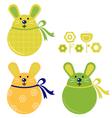 bunny stickers vector image