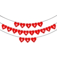 Bunting valentine decoration vector image