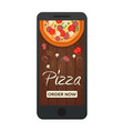 italian pizza background pizza flat design flat vector image