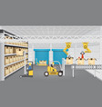 manufacture and warehouse vector image