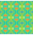 Pattern with flowers in tropical colors vector image
