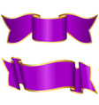 Purple ribbon collection vector image