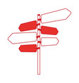 signal with arrows icon vector image