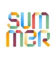 Summer 3d text design template vector image