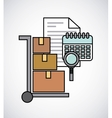 cart boxes delivery service line icons vector image