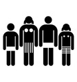 a family vector image