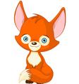Cute baby fox vector image vector image