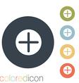 Plus sign icon Positive symbol vector image