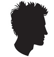Man head silhouette vector image