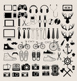 Hipster style infographics elements and icons set vector image vector image