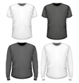 Men t-shirt short and long sleeve vector image vector image