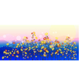 Abstract meadow flowers vector image vector image