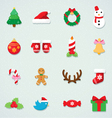 Christmas icon colorful set vector image