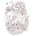 Zen Tangle Snail on flowers vector image vector image